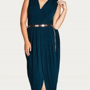 Sexy Slink Teal Maxi Dress by City Chic